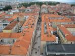 Zadar view from the tower