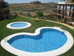 Tranquil shared garden & pool area