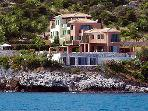 Villa Brio is located on a small peninsula into the Ionian Sea...