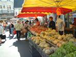 Loches market - we have wonderful local markets - somewhere each day of the week