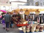 Vibrant Thursday Market at Monpazier