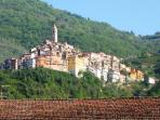 The beautiful medieval village of castle Vittorio is one of the many old villages in the area.
