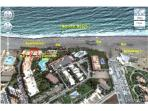 Frontbeach location of the apartments
