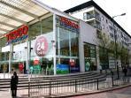24 Hour Tesco Supermarket - 7 min walk