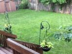 Large fully fenced backyard