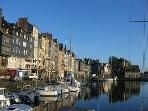 The lovely harbour in Honfleur, a half hour's drive