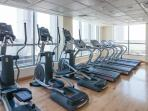 Time for work out - there is a fully equipped gym located in the building