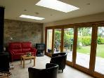 Sun Room with wood burner