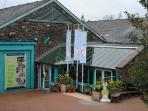 The Beatrix Potter museum is a 3 minute stroll away