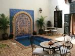 Maison Africa's courtyard