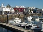 Marina Rubicon with shops, bars and restaurants