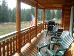 Enjoy the covered deck all year long. Especially nice place to enjoy your morning coffee.