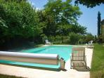 The pool with the security cover
