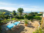 Fabulous seaviews, al fresco dining and sunbathing area