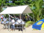 Steel band on Mullins beach