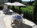 Outdoor dining enjoying the tranquility of the Corfu countryside