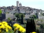 The stunning medieval village of St Paul de Vence - just 15-20 minutes walk
