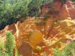 Ochre cliffs at Roussillon