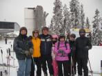 Ski Guiding with our Guests