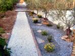 Garden path within beautiful surroundings