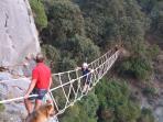 High climb followed by zip slide at Adventure Centre
