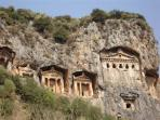 Ancient rock tombs
