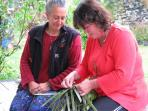 Local Maori flax weaving course