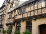 vieille maison à pans de bois à Bayeux