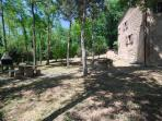 villa in the nature bbq area