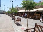 Restaurants on beach front in los cristianos