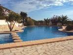 A large communal pool