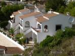Casa Azul from the nearby hillside