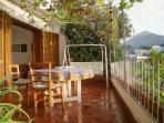 panoramic terrace with 'rocking sofa'