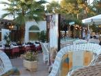 Paved centre of Cala D'or perfect for dining out