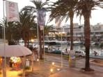 Stunning Marina of Cala D'or.  Restaurants with views of the port.