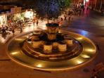 Heraklion city square just 10 minutes by car from the Studio Chalet
