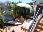 Private garden with BBQ