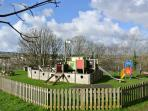 The nearby childrens playground - a Pirate ship of course!