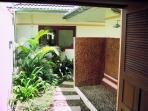 Master bedroom Balinese shower