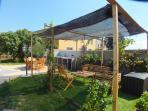 Casa Marimont holiday home Costa Brava with gazebo and barbecue area