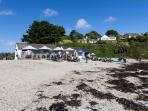 Swanpool beach Cafe serves great food and quirky ice creams!