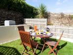 The sunny garden - perfect for a relaxed breakfast!