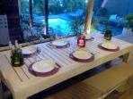 dîner à la villa Be