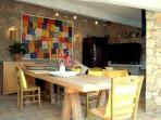 The dining area in the summer kitchen is a fantastic place to enjoy a meal or a glass of wine ;-)