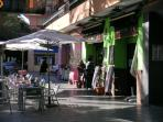 Terraced bars a'plenty nearby - barrio's most popular WiFi taverna 3 min. Vino/cerveza+pincho 1.30&