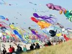Kite flying in Berck-sur-Mer