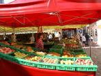 we have great markets in all the local towns, one for every day of your stay