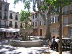 Outside dining in Ceret