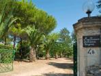 viale accesso all'Agriturismo (civico n. 11 di via Suor M.Maddalena Starace)