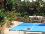 Rear garden and table tennis area